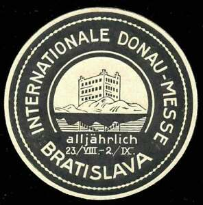 En Herbe Czechoslovakia Poster Stamp - 1920 S-bratislava-internationale Donau-messe-afficher Le Titre D'origine DernièRe Technologie