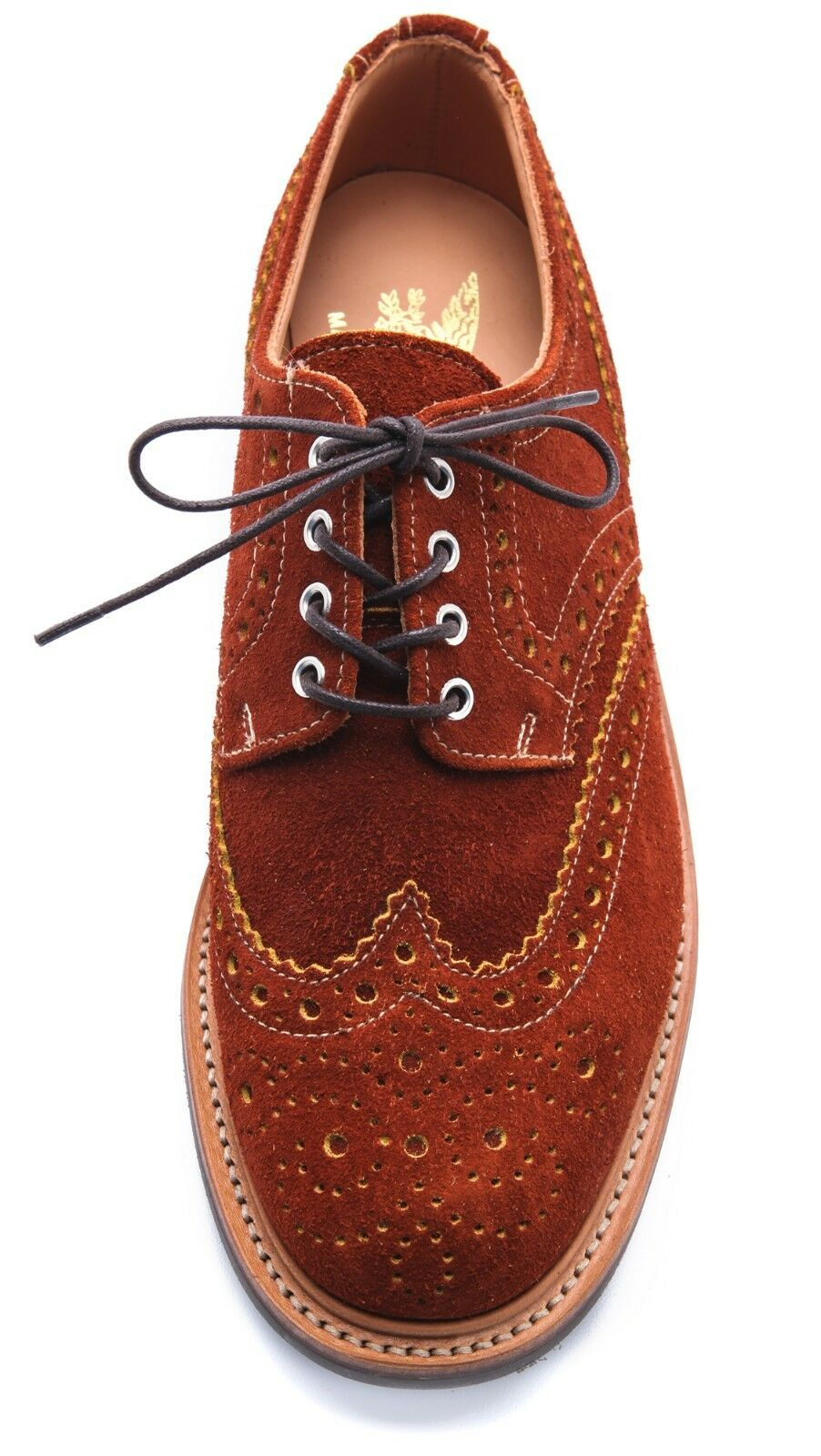 MARK MCNAIRY NEW AMSTERDAM BURNT ORANGE SUEDE COUNTRY BROGUES US 11