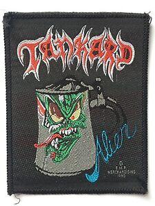 TANKARD-Alien-Old-OG-Vtg-1990-Woven-Sew-On-Patch-Aufnaher-ecusson-Thrash-Metal
