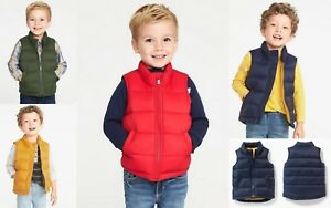 7b8aab794b4d NWT Old Navy Quilted Frost Free Puffer Vest Outerwear Navy Red Green ...