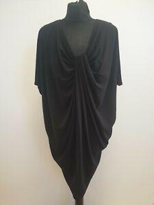 H759-WOMENS-MARY-PORTAS-BLACK-STRETCH-EVENING-TUCK-COCO-DRESS-UK-6-BNWT-99
