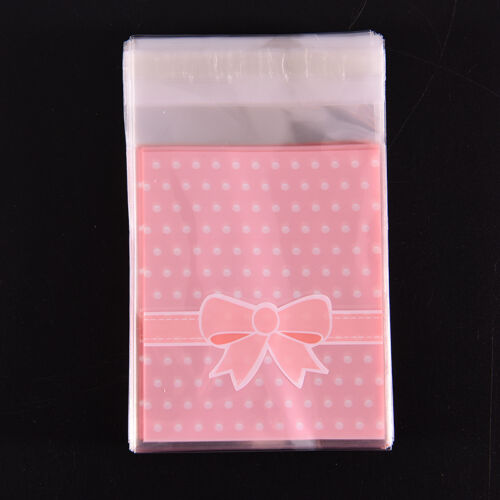 100X Self Adhesive Cookie Candy Package Bags Cellophane Wedding Birthday NPPRUK