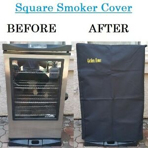 Square smoker cover heavy duty outdoor garden home bbq grill gas charcoal 40 - Grille barbecue 70 x 40 ...