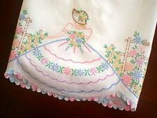 Vintage Southern Belle Transfer Pillowcases PATTERN Embroidered Flower Craft