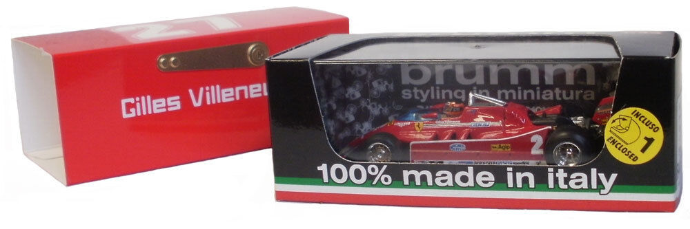 BRUMM Ferrari 126C   2 TEST IMOLA GP ITALIEN 1980-Gilles Villeneuve, échelle 1 43,