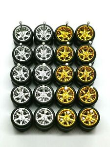 SPECIAL LISTING Hot Wheels 5 STAR Rubber Tire 1 set JDM for scale 1:64