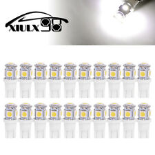 20x 6000K Pure White T10 Wedge 5050 5LED Light bulb W5W 168 921 192 194 2825 158