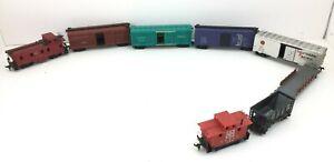 Mantua-Ho-Scale-Train-Lot-of-8-Cars-Passenger-Caboose-Varney-Overnight