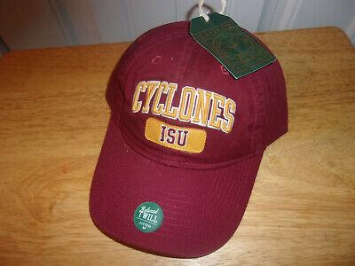 Iowa State Cyclones Ball Cap Hat~GRAY~Cy the Cardinal~FlexFit~NCAA~FREE Shipping