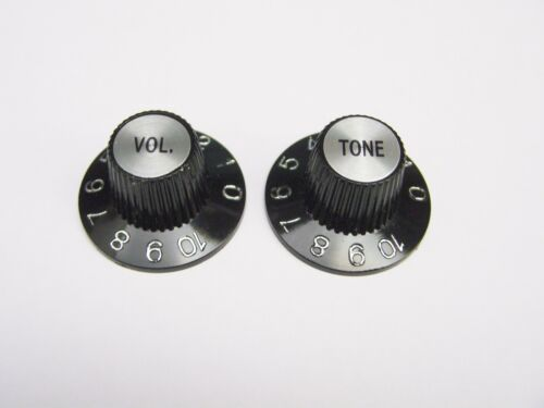 Black or White Choose Volume or Tone Witch Hat Knob fits USA Split Shaft
