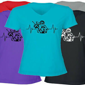 Heartbeat-Paintball-Shooting-Sports-Gift-Hobby-Girls-Juniors-Women-Tee-T-Shirt