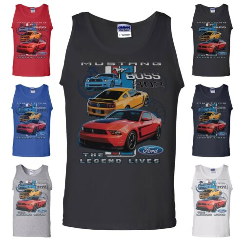 Licensed Ford Mustang Tank Top American Muscle Car Shelby Raptor Boss 302 USA