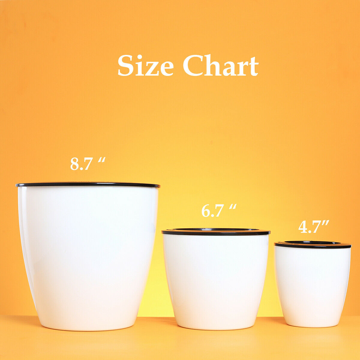 6 Pack Self Watering Planter Wicking Plastic Plant Pots for African Violet White