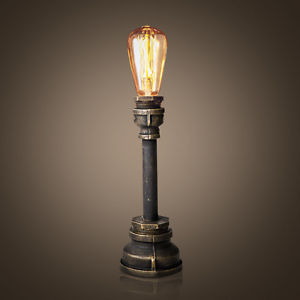 Ordinaire Image Is Loading Vintage Industrial Style Metal Pipe Table Lamp Light