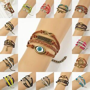 Fashion-Love-Infinity-Wish-Tree-034-Best-Friend-034-Charms-Friendship-Bracelet-17-22cm