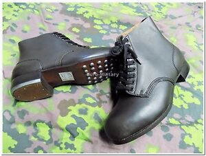 0cb8b9b12dc Details about WW2 German Army Field Boots Schnürschuhe M37 Forged Sole -  TOP Repro - 100% Cow