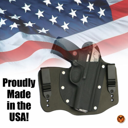 FoxX Holsters Leather /& Kydex IWB Hybrid Holster Hi-point C9 Black Right Conceal
