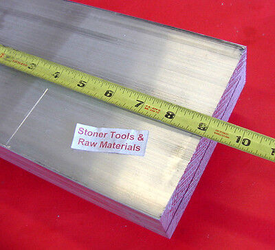 """4 Pieces 1//2/"""" X 6/"""" ALUMINUM 6061 FLAT BAR 9/"""" long Solid T6511 Plate Mill Stock"""