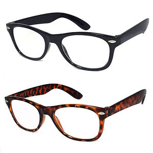 Retro Small Square Frame Clear Lens Reading Glasses 2 ...