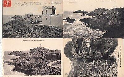 Goedhartig Lot 4 Cartes Postales Anciennes Bretagne Saint-lunaire 2 Jade Wit