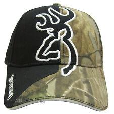 Browning Big Buckmark Camo / Black Twill Cap Shotgun Shooting Clay Pigeon/Game