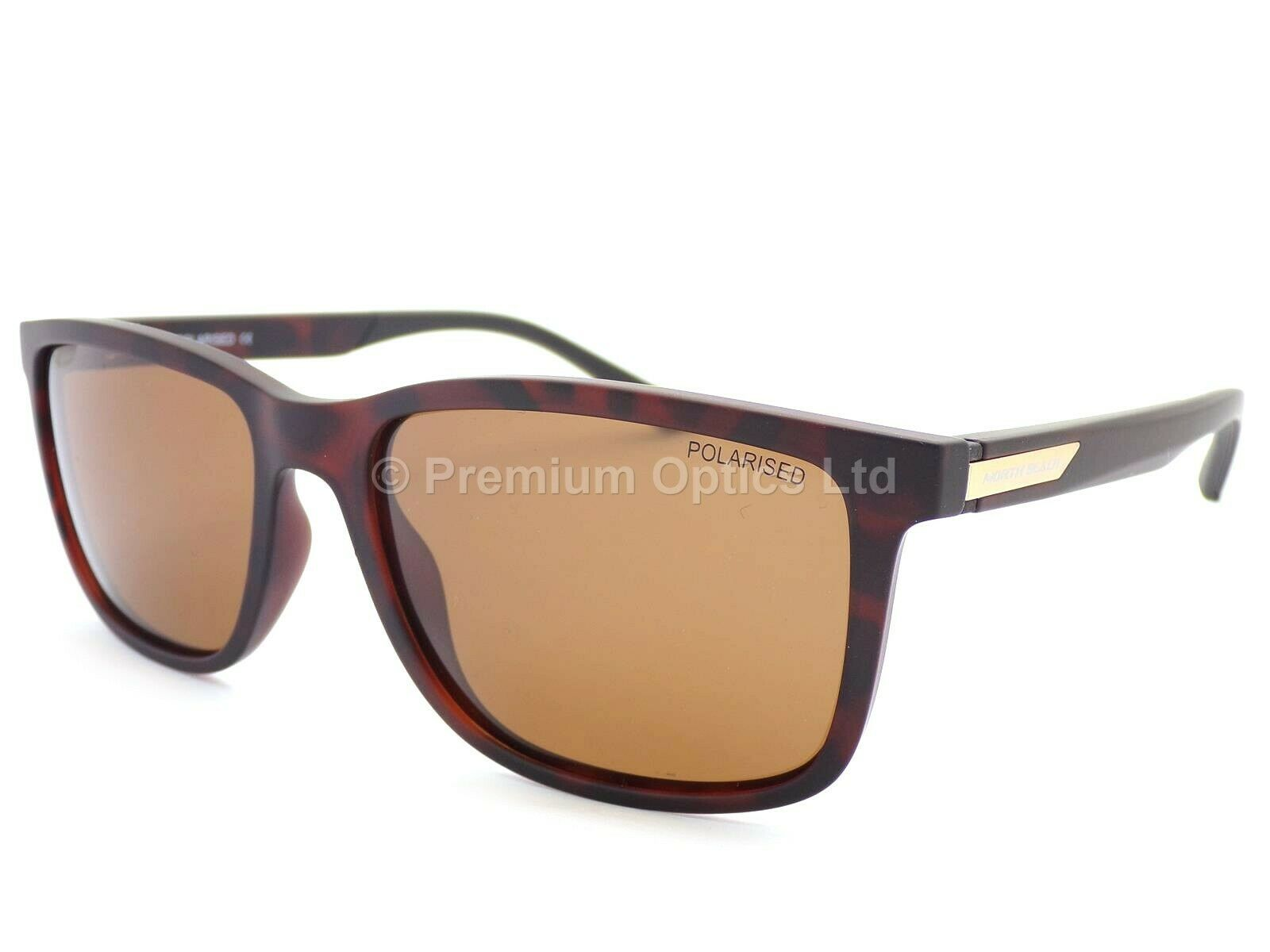 NORTH BEACH Polarised Sunglasses Pomfret Matt Brown Tortoise Brown 70528