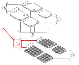 Oem Audi A4 B9 Front Floor Mats Set Rhd 8w2061501041 Genuine Ebay
