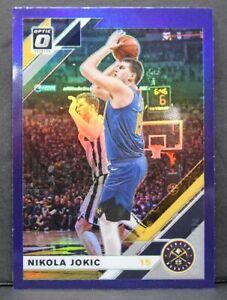 2019-20 Donruss Optic Nikola Jokic Purple Prizm Parallel Card #96 Denver Nuggets