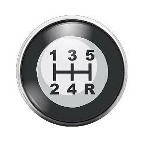 Stick Shift Gear 18MM Glass Dome Candy Snap Charm GD0049