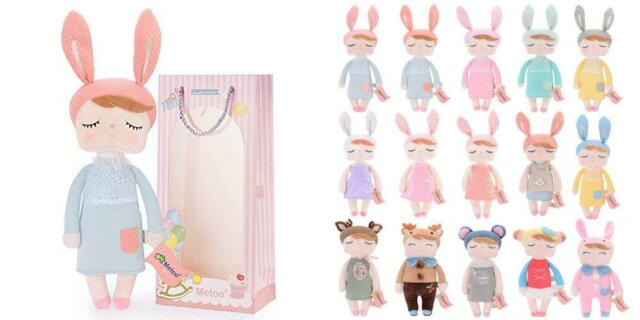 Me Too Gifts Baby Doll Girl Super Soft Plush Rabbit 12 Inch New gray