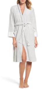 Natori Nirvana Womens Midi Heather Grey Robe Sz L 5817