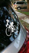 Street Biker cycling biking Decal sticker car window die dye cut vinyl --NiCe!!