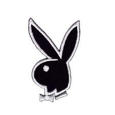 BUNNY RABBIT PLAYBOY Embroidered Patch Iron Sew Logo Hardcore Emblem Custom cute