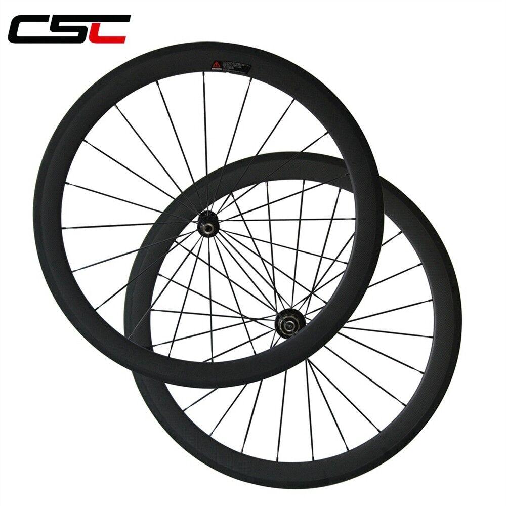 1420g only Super Light 50mm  Clincher Carbon road wheelset Novatec A291SB F482-SL  discount store