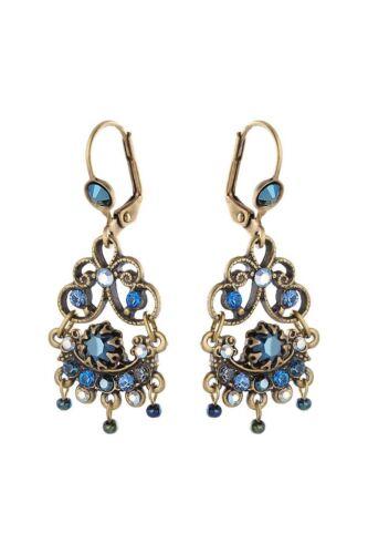 Michal Negrin Dangle Earrings 12754 Drop//Dangle blue #100127541019