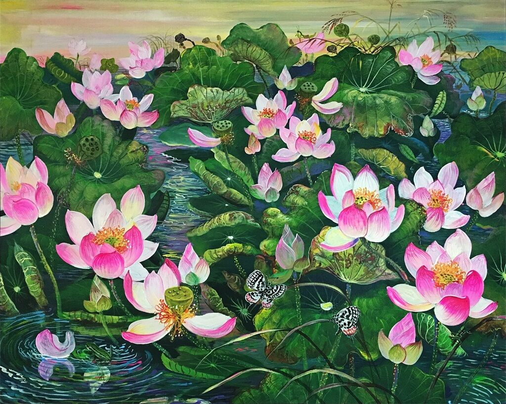 3D Flower painting Grün Wall Stickers Vinyl Murals Wall Print Deco AJSTORE UK