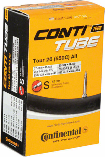 Conti 26 x 1.4-1.7542mm Presta Valve Tube