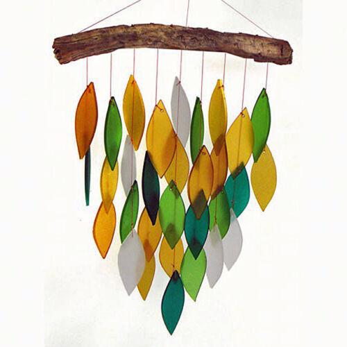WINDCHIMES - FALLING LEAVES WINDCHIME - GLASS WATERFALL WIND CHIME