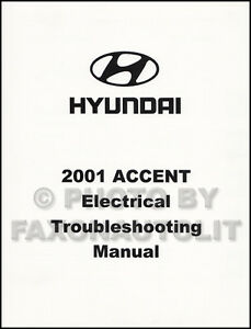 2001 Hyundai Accent Electrical Troubleshooting Manual Wiring Diagram Book  OEM | eBay | Hyundai Accent Wiring For Electric |  | eBay