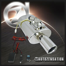 """3"""" Inlet 4"""" Outlet Stainless Steel Electric Remote Control Exhaust Muffler"""