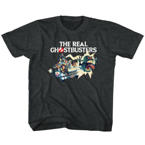 The Real Ghostbusters Toddler T-Shirt Car Poster Black Heather Tee