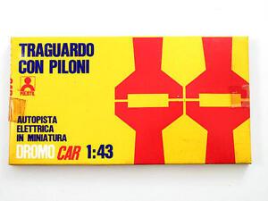 Polistil-Dromo-Car-1-43-Traguardo-con-piloni-724-DN-Vintage-modellismo