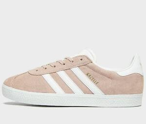Adidas-Originals-Gazelle-Femme-Taille-UK-7-5-EU-41-5-Vapor-Rose-Blanc-Nouveau