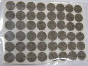 Feltrini adesivi in lana non sintetici marroni diam mm sotto