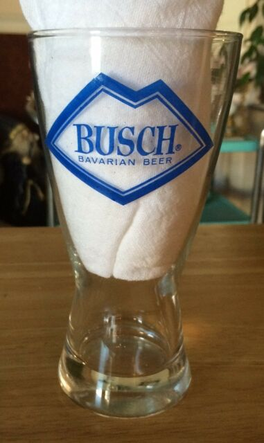 Bush Beer-Vintage, Painted Logo (Both Sides), Draft Glass-PERFECT !