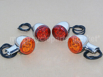 Front Rear Turn Signal Indicator Kit For /'92-/'16 Harley Sportster XL 883 1200 Re
