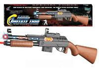 Special Forces Light Up Toy Machine Gun With Lazer Pointer Play Military