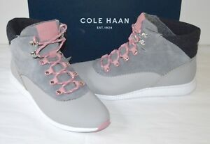 ff219335d30 New  250 Cole Haan 2 Zerogrand Hiker Boots Waterproof Gray Pink ...
