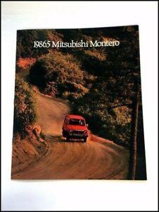 1986 Mitsubishi Montero 12-page Original Car Sales Brochure Catalog - 1986.5