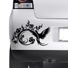 Floral Decorative Bird Car Bumper Van Window Wall Laptop  VINYL DECAL STICKER